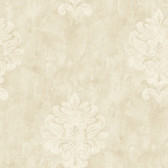 Weatherby Woods Sophisticated Medallion Wallpaper Vanilla/Mocha/White