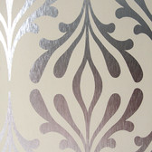 ND7017-Candice Olson Inspired Elegance Stardust Wallpaper in Beige and Silver