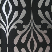 ND7019-Candice Olson Inspired Elegance Stardust Wallpaper in Silver and Black