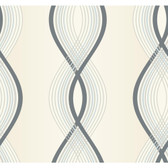ND7027-Candice Olson Inspired Elegance Moda Wallpaper in Cream, Grey, and Brown