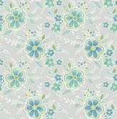 Chloe Green Floral  2657-22200 Wallpaper