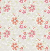 Chloe Peach Floral  2657-22202 Wallpaper
