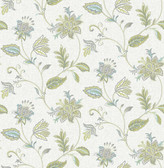 Georgette Turquoise Jacobean  2657-22206 Wallpaper