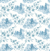 Laure Blueberry Toile  2657-22219 Wallpaper