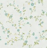 Delphine Light Blue Floral  2657-22248 Wallpaper