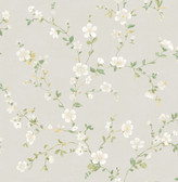 Delphine White Floral Trail  2657-22251 Wallpaper