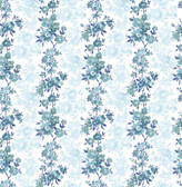 Charlise Blue Floral Stripe  2657-22252 Wallpaper