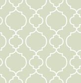 Desiree Sage Quatrefoil  2657-22258 Wallpaper