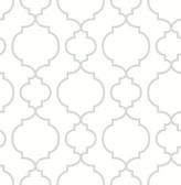 Desiree White Quatrefoil  2657-22259 Wallpaper