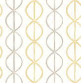 A-Street Prints Banning Stripe Honey Geometric