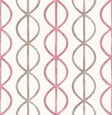A-Street Prints Banning Stripe Pink Geometric