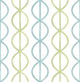 A-Street Prints Banning Stripe Aqua Geometric