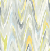 A-Street Prints Aurora Yellow Geometric Wave