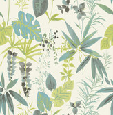 A-Street Prints Descano Flower Green Botanical