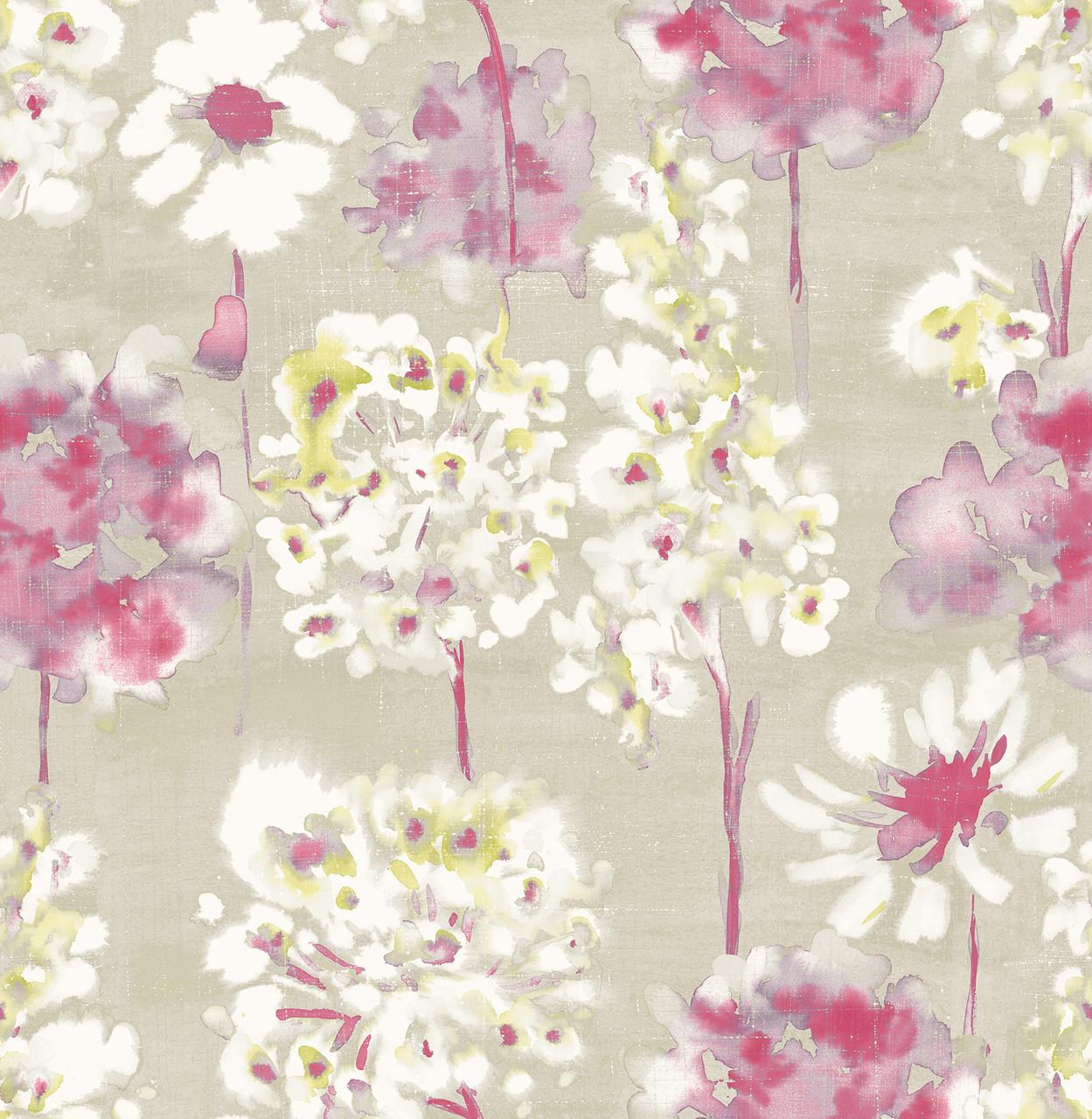 Marilla Pink Watercolor Floral 2656 004019 Wallpaper