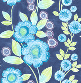 A-Street Prints Bloom Blue Floral