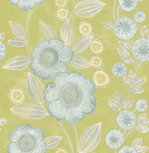 A-Street Prints Bloom Green Floral