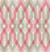 A-Street Prints Harbour Pink Geometric