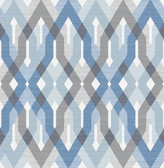 A-Street Prints Harbour Blue Lattice