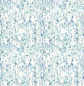 A-Street Prints Willow Blue Leaves