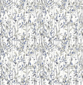 A-Street Prints Willow Navy Leaves