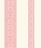 Brynn Pink Paisley Stripe  wallpaper
