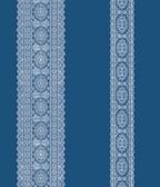 Brynn Indigo Paisley Stripe  wallpaper