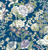 Ainsley Indigo Boho Floral  wallpaper