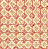 Geo Red Quatrefoil  wallpaper