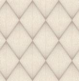 Enlightenment  Taupe Diamond Geometric  Contemporary Wallpaper