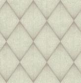 Enlightenment  Light Grey Diamond Geometric  Contemporary Wallpaper