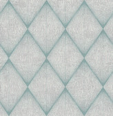 Enlightenment  Blue Diamond Geometric  Contemporary Wallpaper