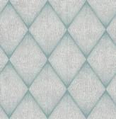 Enlightenment  Blue Diamond Geometric  Contemporary Wallpaper