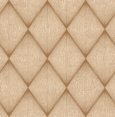 Enlightenment  Brown Diamond Geometric  Contemporary Wallpaper