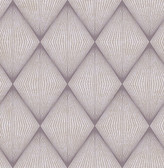 Enlightenment  Eggplant Diamond Geometric  Contemporary Wallpaper
