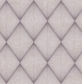 Enlightenment  Eggplant Diamond Geometric  Contemporary Wallpaper