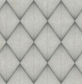 Enlightenment  Charcoal Diamond Geometric  Contemporary Wallpaper