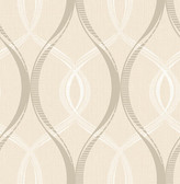 Echo Cream Lattice   Contemporary Wallpaper
