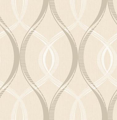 Echo Cream Lattice   Contemporary Wallpaper
