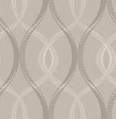 Echo Grey Lattice   Contemporary Wallpaper