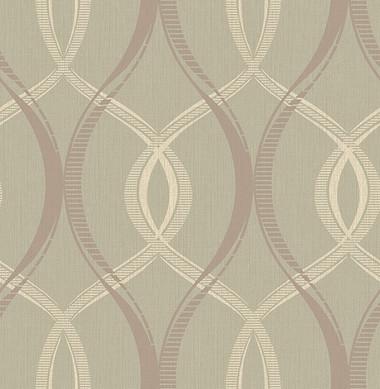 Echo Taupe Lattice   Contemporary Wallpaper
