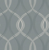 Echo Blue Lattice   Contemporary Wallpaper