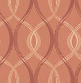Echo Rust Lattice   Contemporary Wallpaper
