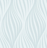Distinction Light Blue Ogee  Contemporary Wallpaper