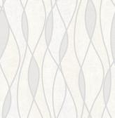 Gyro Light Grey Swirl Geometric  Contemporary Wallpaper