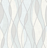 Gyro Light Blue Swirl Geometric  Contemporary Wallpaper