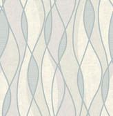 Gyro Pewter Swirl Geometric  Contemporary Wallpaper