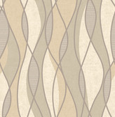 Gyro Beige Swirl Geometric  Contemporary Wallpaper