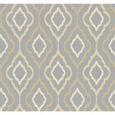 ND7084-Candice Olson Inspired Elegance Diva Wallpaper in Grey, Brown, and Cream