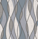 Gyro Charcoal Swirl Geometric  Contemporary Wallpaper
